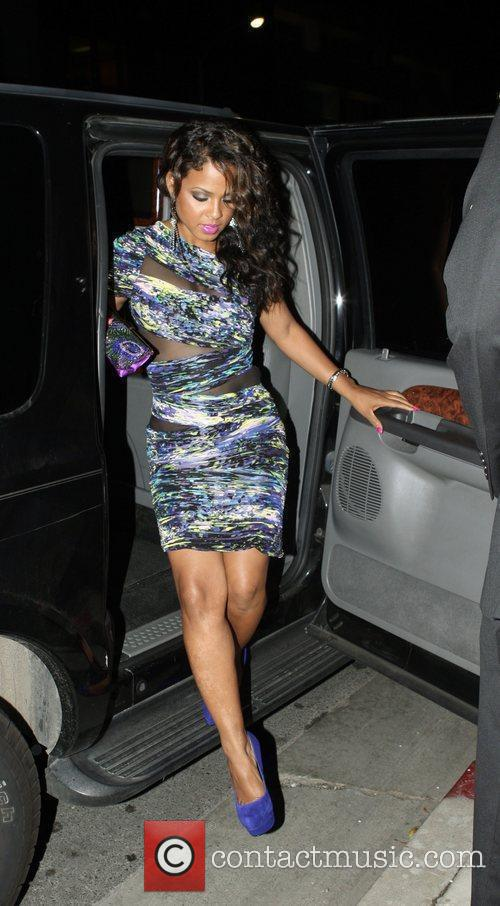Christina Milian  at the opening of Xandros...
