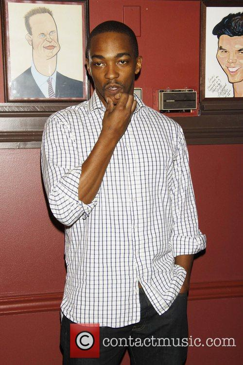 Anthony Mackie attending the Sardi's caricature unveiling honoring...