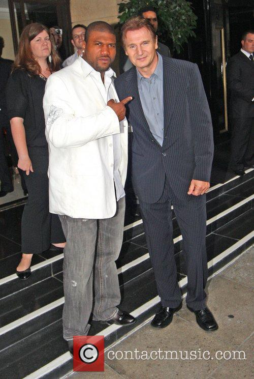 Quinton Jackson And Liam Neeson, Quinton Jackson, A-team and Liam Neeson