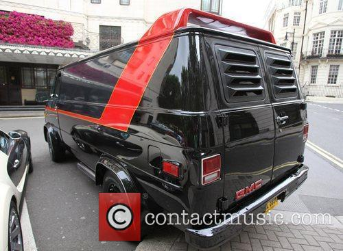 A replica of the A-Team van, signed by...