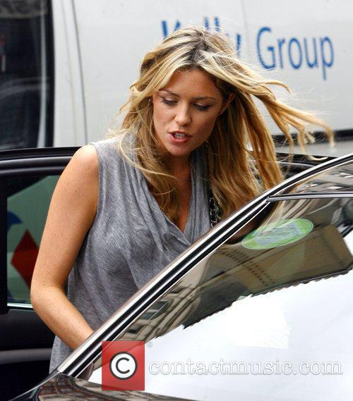 Abbey Clancy stops to grab lunch at Pret...