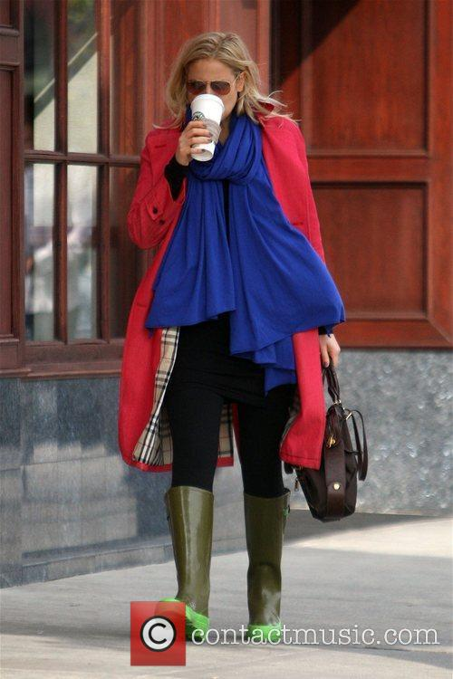 Abbie Cornish seen drinking coffee while out in...