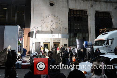 Philadelphia set of the new film 'The Dark...