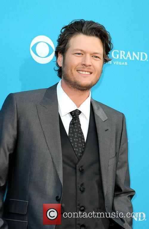 Blake Shelton,  arrives for the 45th Annual...