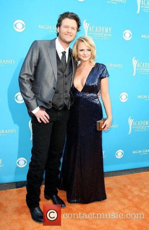 Blake Shelton and Miranda Lambert,  arrives for...