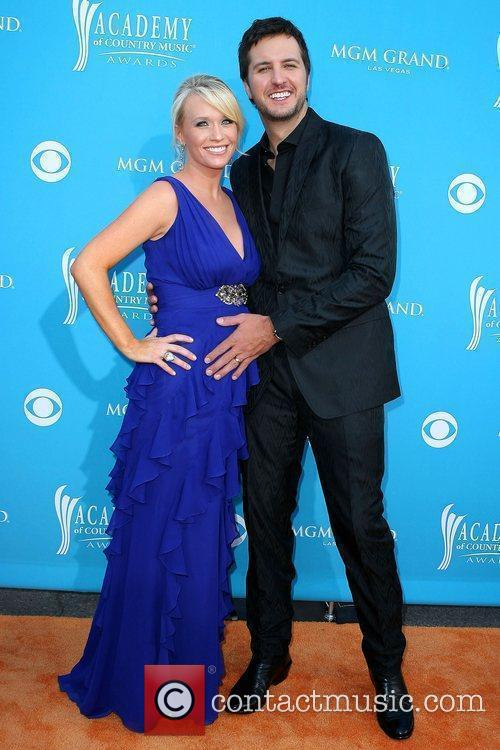 Luke Bryan and wife Caroline Bryan The 45th...