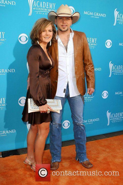 Jessica Aldean and Jason Aldean The 45th Annual...