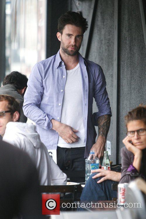 Maroon 5 frontman Adam Levine eating at Joan's...