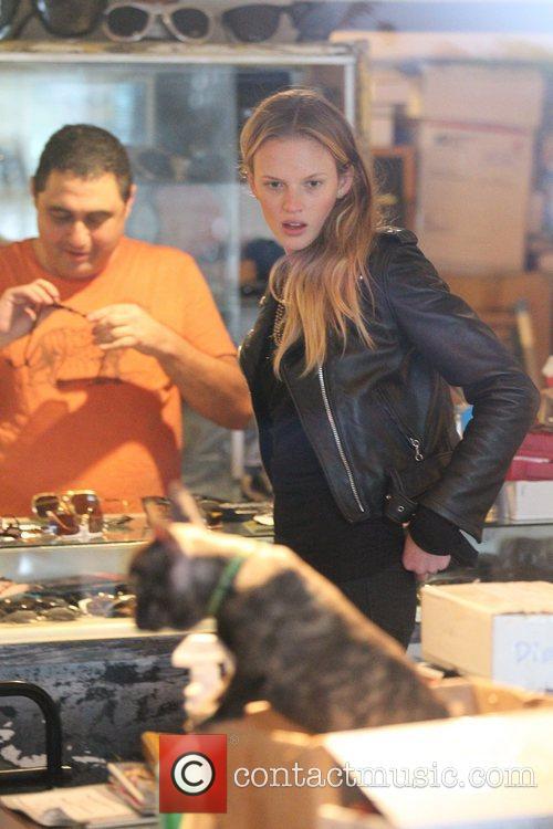 Adam Levine and his girlfriend Victoria's Secret model,...