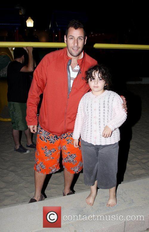 Adam Sandler and his daughter Adam Sandler spends...
