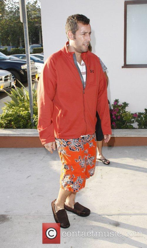 Adam Sandler leaving Tra di Noi in Malibu...