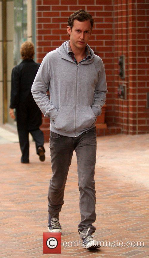 Adam Shulman  seen out walking in Beverly...