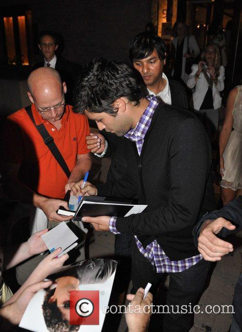 Adrian Grenier outside the Isabel Bader Theatre in...