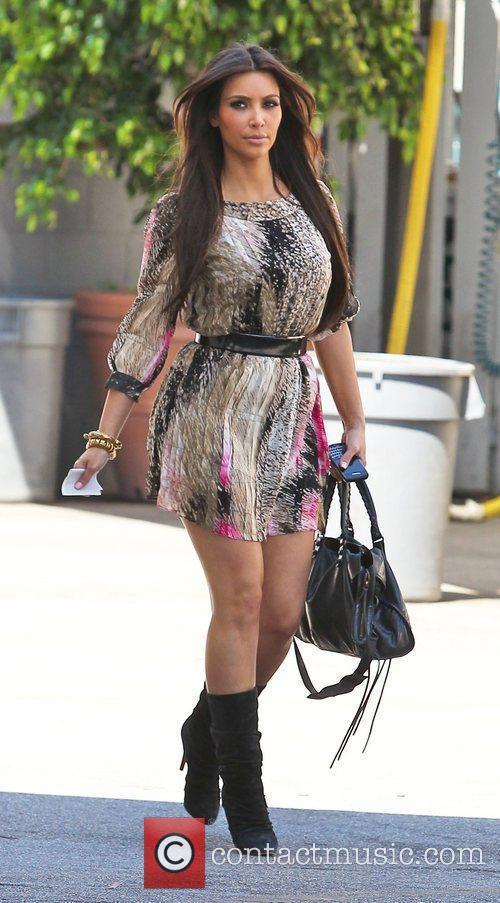 Kim Kardashian films a new reality television show...