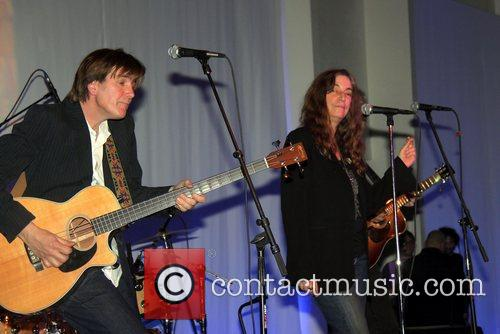 Performing at the benefit for The American Folk...
