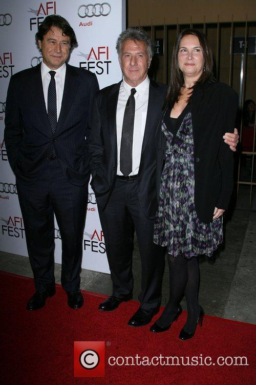 Producer Robert Lantos with Dustin Hoffman and his...