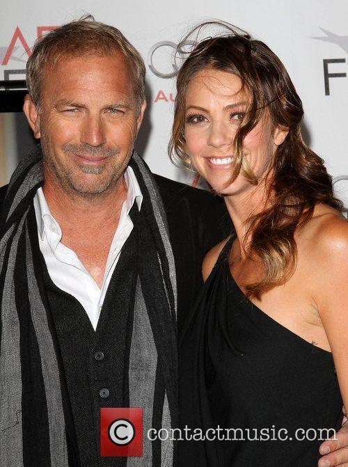 Kevin Costner and wife Christine Baumgartner AFI Fest...