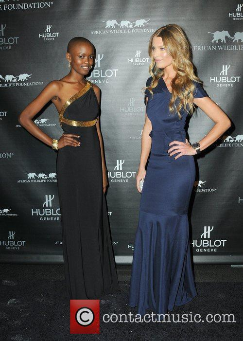 Flaviana Matata and Veronica Varekova attends the 2010...