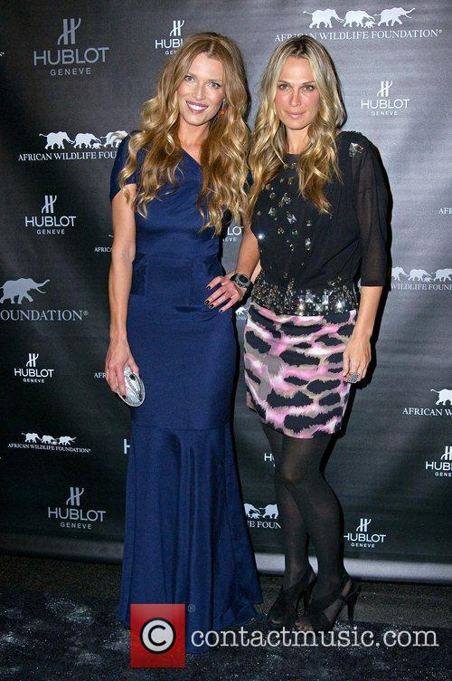 Veronica Varekova and Molly Sims attends the 2010...