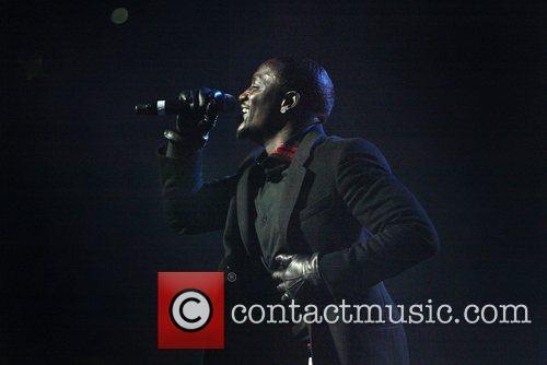 Akon performing live in concert as part of...