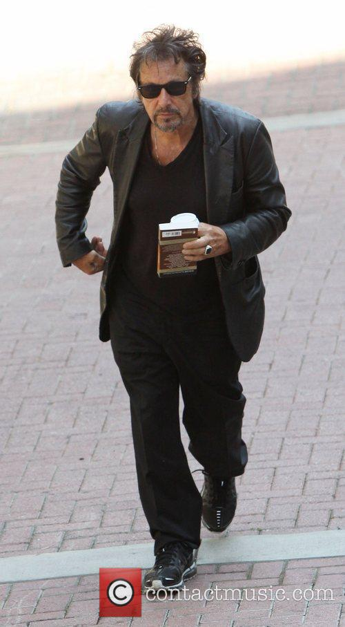 Al Pacino, Dressed In All Black and Was Seen Heading Into A Building For A Meeting In West Hollywood 3