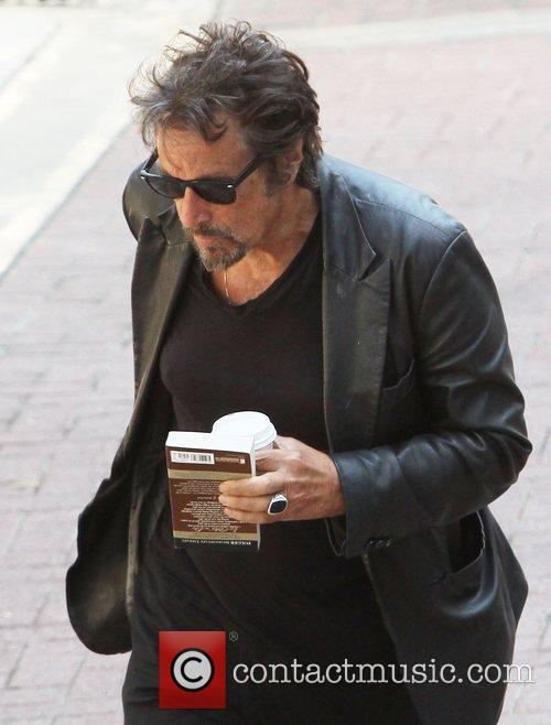 Al Pacino, Dressed In All Black and Was Seen Heading Into A Building For A Meeting In West Hollywood 8