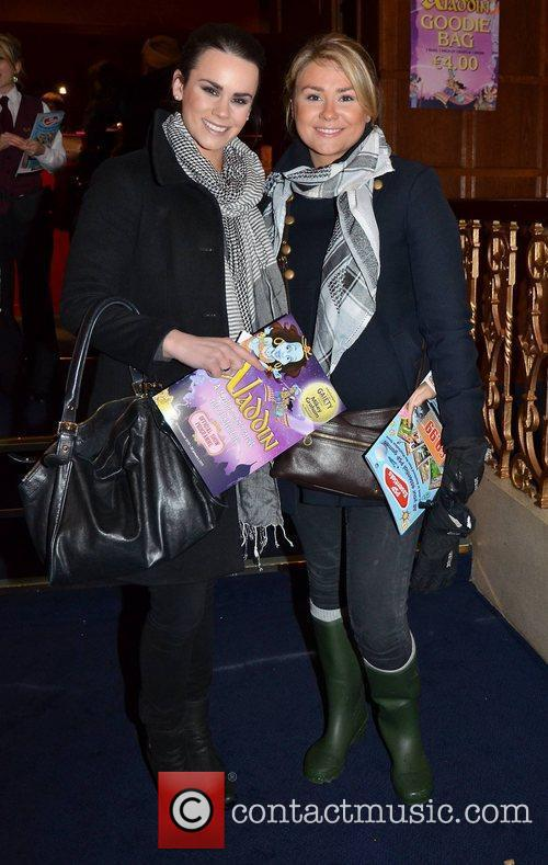 Celebrities arrive to watch 'Aladdin' at The Gaiety...