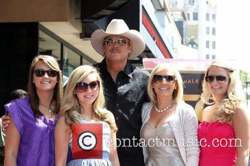 Alan Jackson, his family, daughter Mattie Jackson, daughter Dani Jackson, wife Denise Jackson and daughter Ali Jackson 3