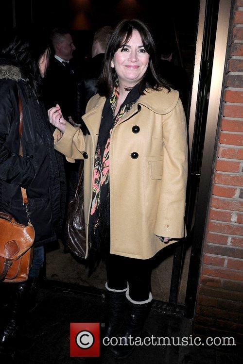 Debbie Rush cast of Coronation Street outside Albert's...