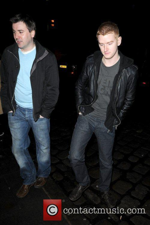 Cast of Coronation Street outside Albert's Shed for...