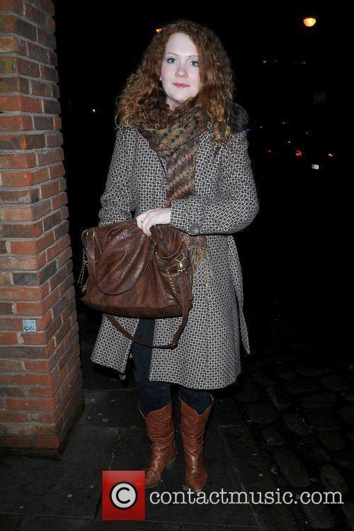 Jennie McAlpine cast of Coronation Street outside Albert's...