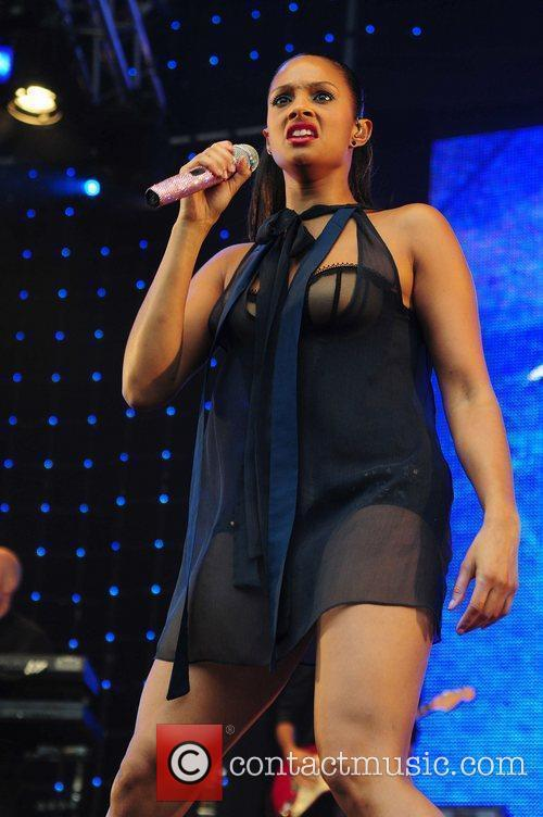 Alesha Dixon performing at Wigan Life Tuned-In Concerts...