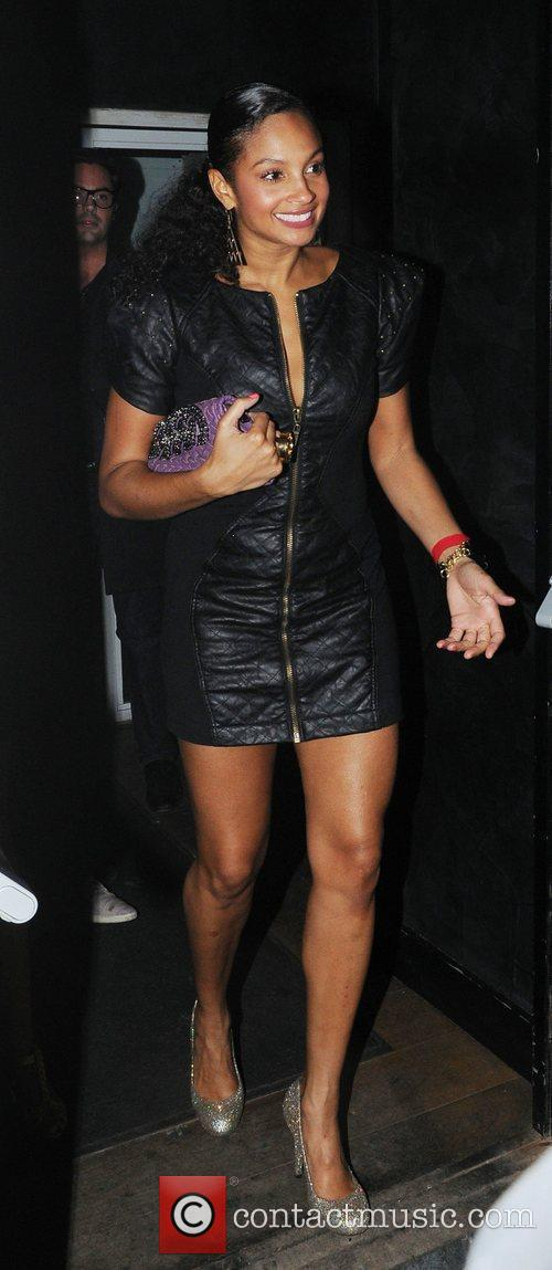 Alesha Dixon leaves Auto Club in London London,...
