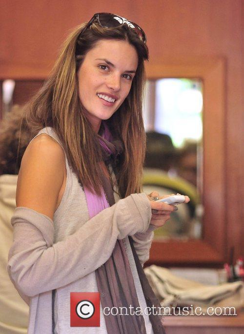 Alessandra Ambrosio out shopping for a cellphone