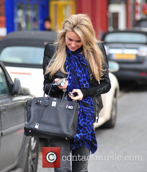 Alex Gerrard is seen leaving the hairdressers in...