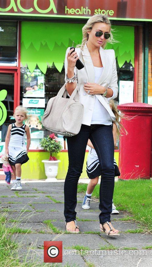 Alex Gerrard is seen seen running errands with...