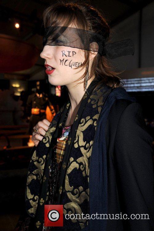 A makeshift memorial develops at Alexander McQueen's Manhattan...