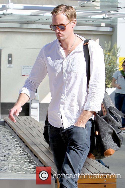 Alexander Skarsgard arriving at Equinox Fitness Club on...