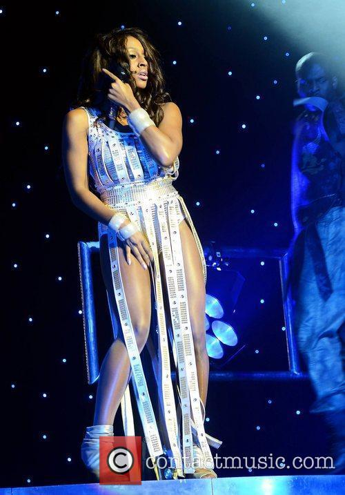 Singer Alexandra Burke performing at the Grand Canal...