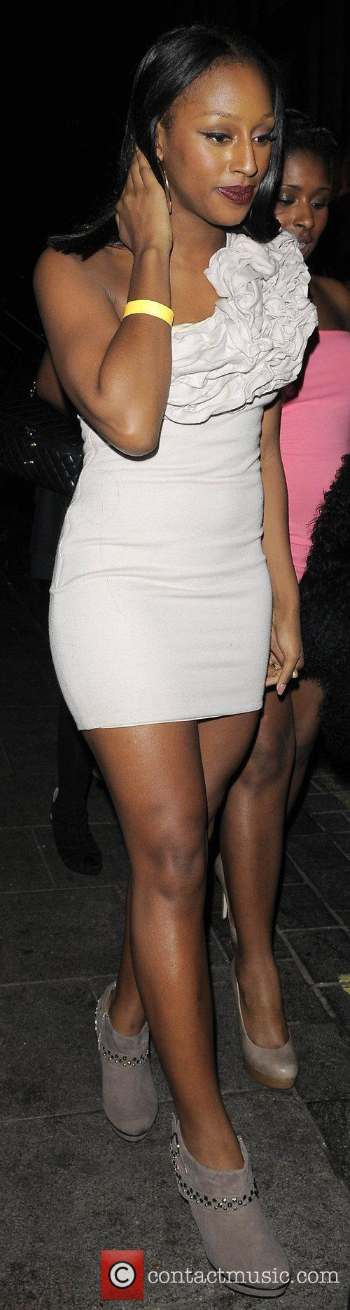 Alexandra Burke leaving Anaya nightclub in Mayfair.