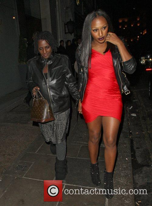 Alexandra Burke leaving Nobu Berkeley with her mother,...