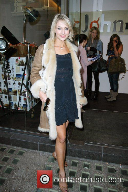 Ali Bastian arriving at Oui Rooms wearing a...