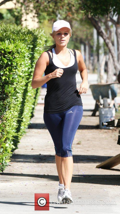 Ali Fedotowsky seen jogging in Venice Beach.