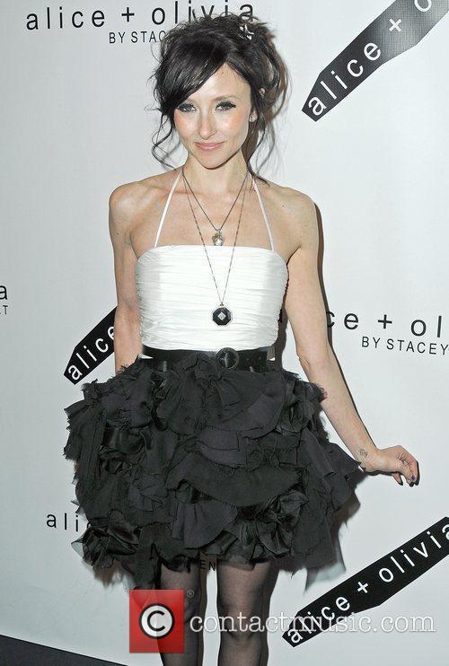 Attends the Alice + Olivia Fall 2010 Fashion...