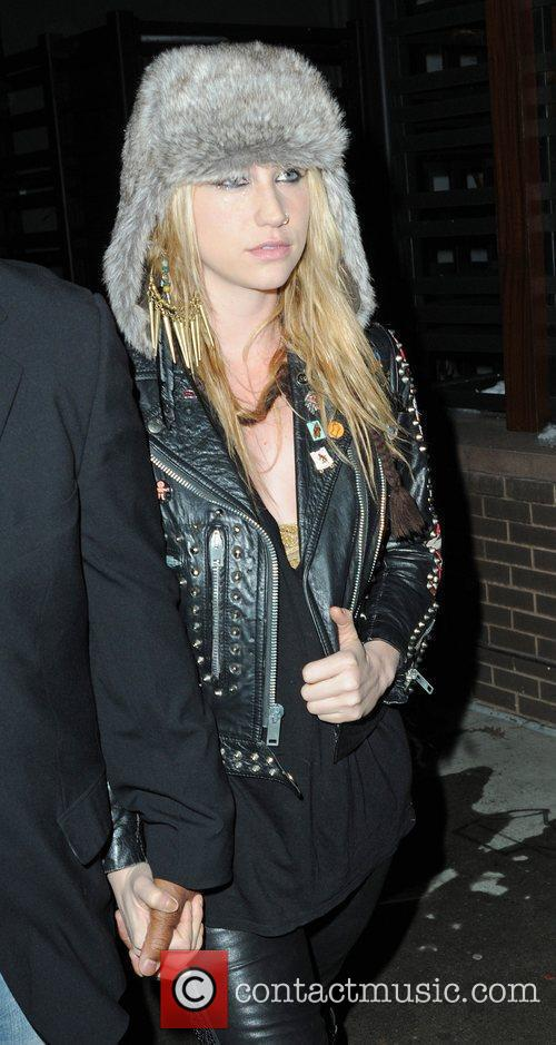 Singer Ke$ha attends the Alice + Olivia Fall...