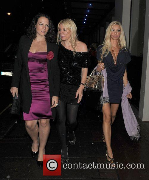 Alicia Douvall leaving the Mayfair hotel with friends...