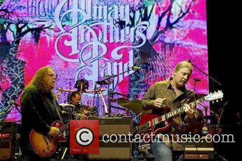The Allman Brothers Band performing live at the...