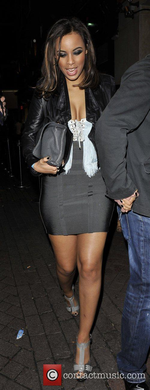 Rochelle Wiseman of The Saturdays leaving Alto nighclub...