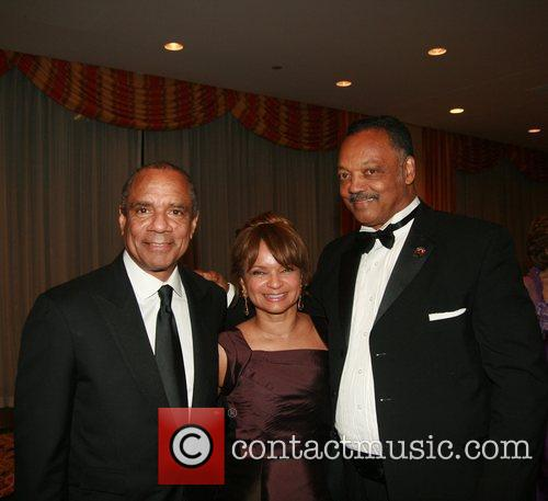 Kenneth Chenault, Kathryn Chenault and Reverend Jesse Jackson...