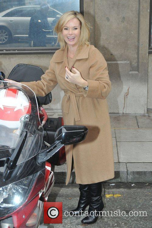Outside the BBC Radio 2 studios, where she...